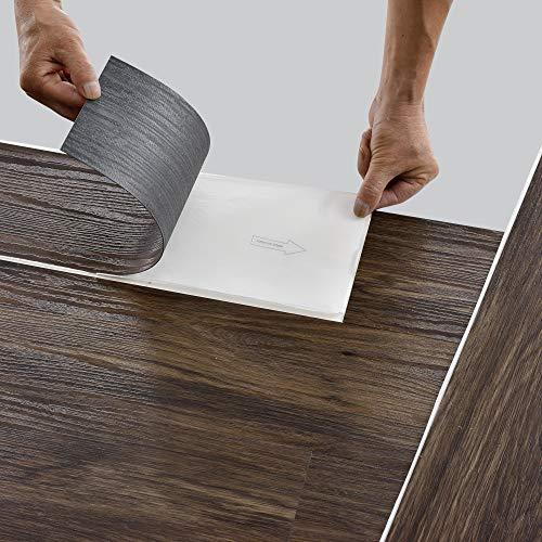 neu.holz Bodenbelag Selbstklebend ca. 1 m² 'Smoked Oak' Vinyl Laminat 7 rutschfeste Dekor-Dielen für Fußbodenheizung