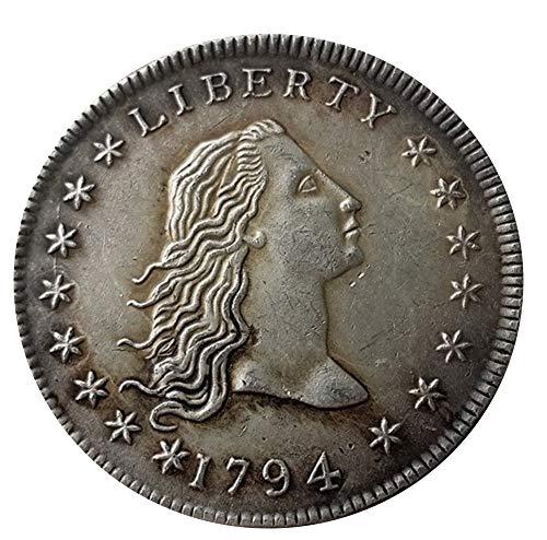 Seltene, antike US-amerikanische Freiheitsjahre 1794, Silber, Dollar Great Restrike Münze