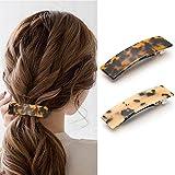 Avicom Horquillas para el pelo con diseño geométrico de carey para mujeres y niñas (paquete de 2)
