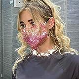 Sethexy Brillante Lentejuela Máscara de malla Lentejuelas Rojo colorido Club nocturno Accesorios de Halloween Mardi Gras Máscaras de cristal para mujeres y niñas