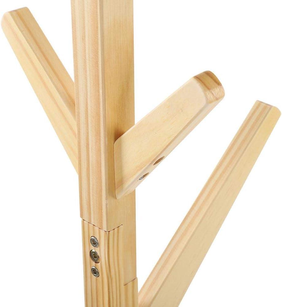 164,5 cm portemanteau sur pied Ausla Portemanteau en bois portemanteau d/émont/é portemanteau design arbre massif avec 8 crochets
