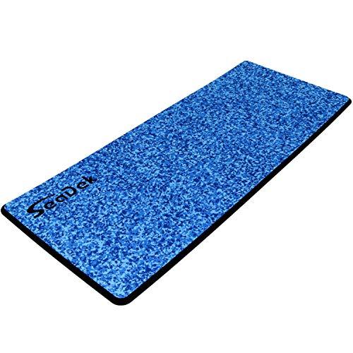 Castaway Customs | SeaDek 13mm Foam | Embossed Helm Station Pad | Non Slip Boat Standing Mat | 3M Adhesive Backing | Size Large 39'x16' | Aqua Camo/Black
