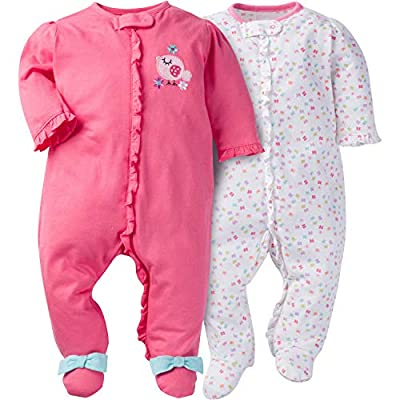 Gerber Baby Girls' 2-Pack Sleep 'N Play