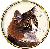 Giftshop UK Sibérien Chat Broche Badge