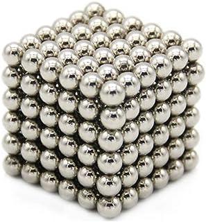 強力磁石 立体パズル マグネットボール 3mm 216個/セット マジック磁石 おもちゃ 減圧 パズル ギフト プレゼント 教育工具 DIY工具 子供 大人に適用 1個セット/2個セット (シルバー, 3MM/1個セット)