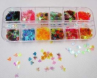 Spijker glitter 12 Kleur Folies Sparky Flake Charms Glitter Pailletten Nail Art Decorations Tool Nail Glitter Poeder Acces...