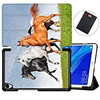 MAITTAO Case Compatible with Huawei MediaPad M6 8.4 2019, Slim Leather Folio Smart-Shell Stand Cover with Auto Wake/Sleep for Huawei Mediapad M6 8.4 Inch 2019 Released Tablet, Akhal-Teke Horse 11
