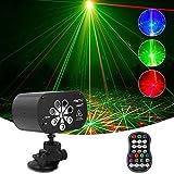 Luz de discoteca recargable USB 8 agujeros LED luz de fiesta luz escenario DJ discoteca Party luces con efecto escenario y control automático de sonido para DJ Club Party Show