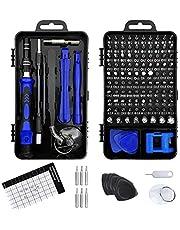Aichens Schroevendraaierset, 130-in-1 fijnmechanica-set, mini-reparatieset, precisieschroevendraaierset voor mobiele telefoons, elektronische doe-het-zelfmodellen, iPhone, laptop, horloges, tablet, camera, enz