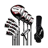 Golf Clubs Complete Set for Men 13 Piece Includes Titanium Golf Driver, 3 & #5 Fairway Woods, 4...