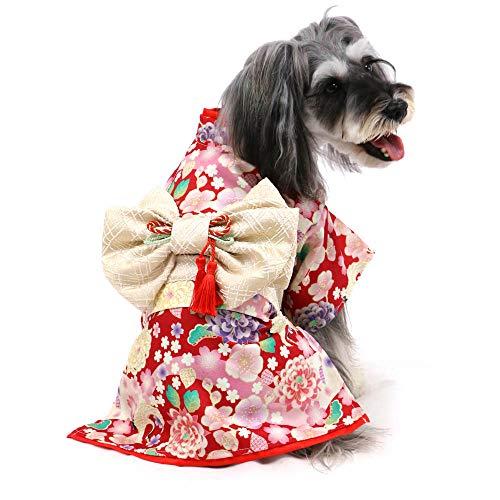 犬 服 お正月 ペットパラダイス 華鶴 着物 【DSS】