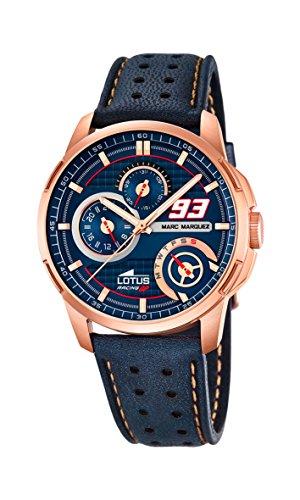 Lotus 18242/1 - Reloj de Pulsera Hombre, Cuero, Color Azul