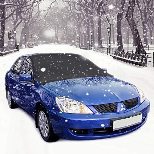 Aodoor Copertura Parabrezza Auto, Copertura Parabrezza Invernale, Protezione da Neve, Parabrezza + Estate, Protezione Solare