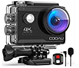 COOAU 4K 20MP Wi-Fi Action Camera Web Cam PC Camera with External Microphone