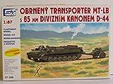 SDV Modellbau Kunststoff Modellbausatz Militär 1:87 H0 MT-LB Schützenpanzer mit D-44 Kanone Panzer Fahrzeuge DDR NVA Ostblock