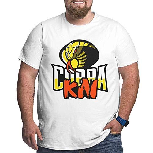Tengyuntong T-Shirt Sportive Top e Bluse, Maglietta Larga da Uomo Cobra Kai Karate per Persone di Forte Statura Nera