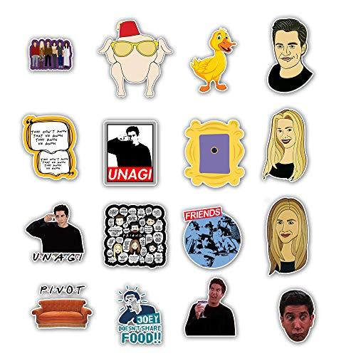 WH MaiYY 50 American Drama Friends Friends Stickers Maletas Para Coche Eléctrico...