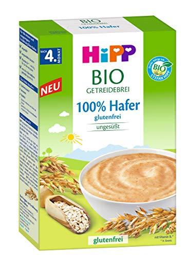 Hipp Bio-Getreide-Brei 100% Hafer, glutenfrei, nach dem 4. Monat, 3er Pack (3 x 200g)