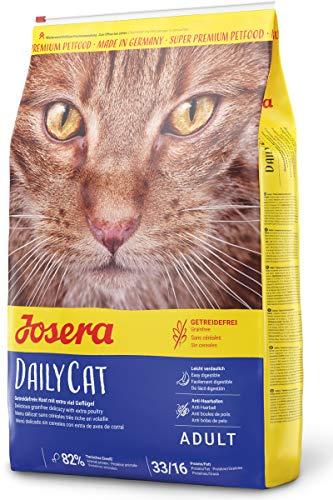 JOSERA DailyCat (1 x 10 kg) | getreidefreies Katzenfutter mit Geflügel, Kräutern und Früchten | Super Premium Trockenfutter für ausgewachsene Katzen | 1er Pack