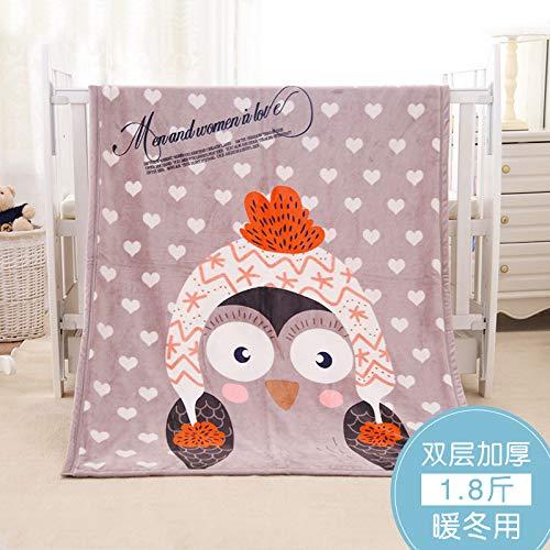 Blanket S-Werthy Couverture bébé Double épaisseur Corail Duvet bébé Nouveau-né Couverture de Cheveux Petite Couverture de Nuages bébé Couverture 100 * 140CM, H