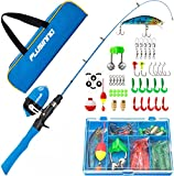 PLUSINNO Kids Fishing Pole with Travel Bag, Telescopic Fishing Rod and Reel Combos with Spincast...