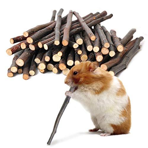 Apfel- und Zimt-Kaustangen, Backenzahn- und Zähneknirschspielzeug für kleine Haustiere, Haustier-Snack für Kaninchen, Chinchillas, Hamster, Apfelgartenstangen für gesunde Zähne, gute Verdauung