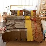 ACVMF Bettwäsche 220x240cm Bettbezug Set 3 teilig - Pappkarton; Papierbox; Pappbox - warme& atmungsaktive Bettbezüge mit Reißverschluss und 2 mal 50x75cm Kissenbezug