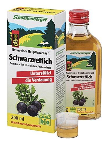 Schwarz Rettich Bio Fresh Pflanze Saft 200ml