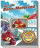 Mein Renn-Motorrad: mit Rennstrecke zum Mitmachen und aufziehbarem Motorrad.