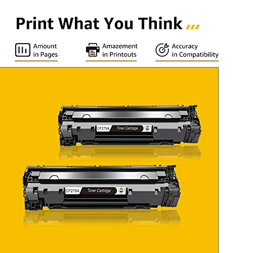 CMYBabee Cartucho de Tóner Compatible Repuesto para HP 79A CF279A para HP Laserjet Pro MFP M26 M26nw M26a HP Laserjet Pro M12 M12w M12a Impresora (2 Negro)