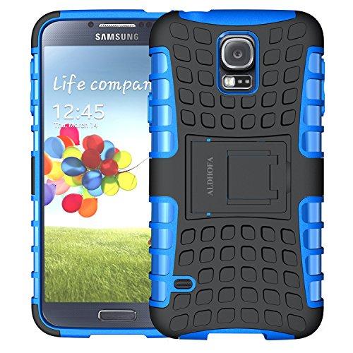 ALDHOFA Samsung Galaxy S5 Hülle,(TPU Series) Handyhülle Schutzhülle Silikon für Samsung S5-Blau
