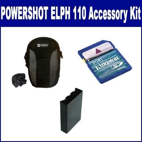 Canon PowerShot ELPH 110 Digital Camera High store material Kit Includes: Accessory