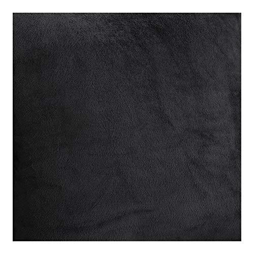 ZIJ Funda de sofá elástica en forma de L de terciopelo para sala de estar, muebles de sofá, funda elástica para sofá de esquina Chaise longue (color: negro, tamaño: parte B 235 300 cm)