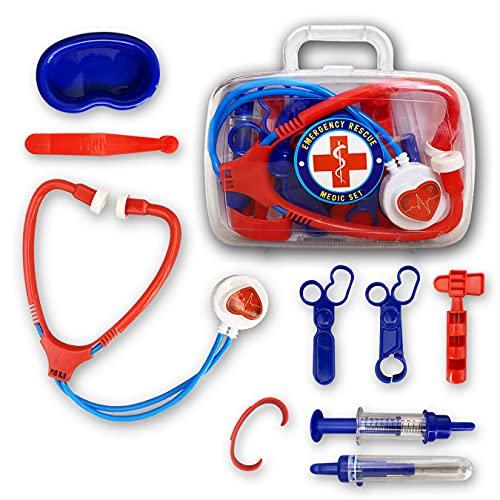 N Naturly Juguete Doctor Maletín Médico Juguete. Juguetes Médicos con Un Ideal Kit De Médicos para Niños y Niñas de 3-6 Años Aprende A Ser Un Auténtico Doctor En Casa