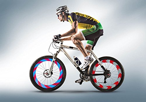 AIKELIDA Bike Wheel Lights - Bicycle Wheel Lights Ultra Bright 14 LED - 30 Different Patterns Change Visible from All Angles - Safety Cool Bicycle Bike Accessories for Kids Adults - Easy to Install