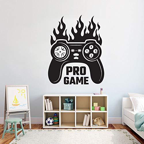 Ps4 Fever Player Controller Wandaufkleber X-Box Videospiel Wandtattoo Wohnkultur für Jungen Schlafzimmer Abnehmbare Vinyl Art Wandbild 50,4x40,8 cm