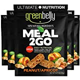 Greenbelly Backpacking Meals - Backpacking Food, Appalachian Trail Food Bars, Ultralight, Non-Cook, High-Calorie, Gluten-Free, Ready-to-Eat, All Natural Meal Bars (Peanut Apricot, 5 Count)