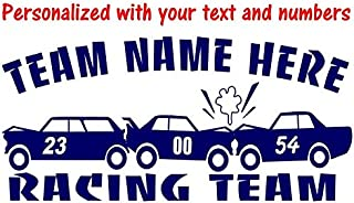 Redneck Racing Demolition Derby Derby Cars add Your Numbers Personalized Vinyl Decal Sticker 5