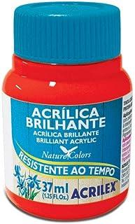 Tinta Acrílica Brilhante 37 ml Acrilex Avulso Vermelho Fogo 507