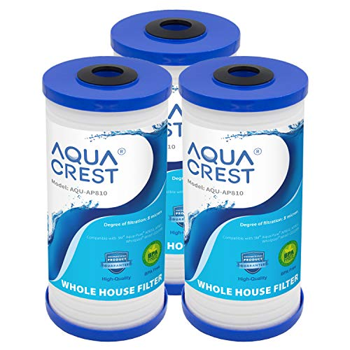 AQUACREST AP810 Whole House Water Filter, replacement for 3M Aqua-Pure AP810, AP801, AP811, Whirlpool WHKF-GD25BB, Pack of 3