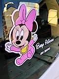 Adhesivo Baby On Board para coche – Bebé a bordo – Minnie y Mickey Mouse...