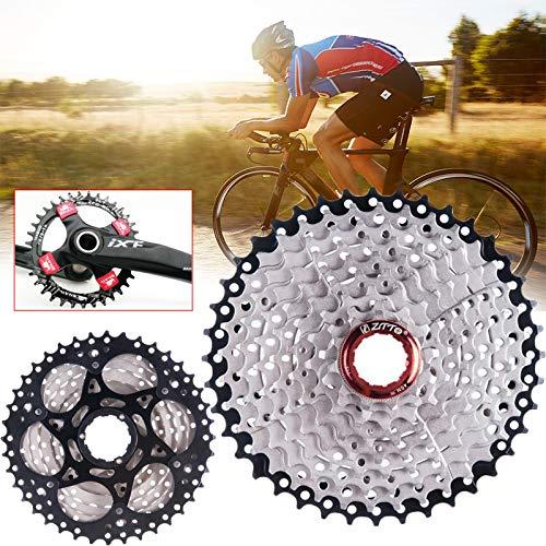 KIICN Rueda Volante del Casete, Casete de 9 velocidades Relación 11-40 T Ancha para Las Piezas Buje Mountain Bike MTB Bike Compatible con Sunrace