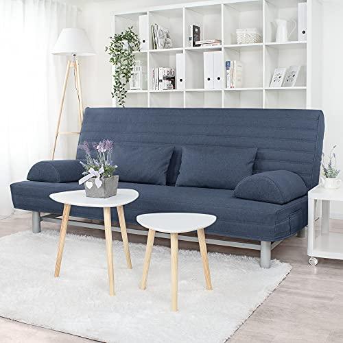 Gesteppter Bezug für IKEA Beddinge 3-er Bettsofa (Dunkelblau L20)