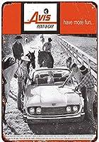1960エイビスレンタカーサンダーバード広告ヴィンテージコレクタブルウォールアートブリキ看板