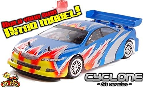 Rc Cyclone Self Build Nitro Rc Car Kit 2.4Ghz Everything in The Box to Get Running