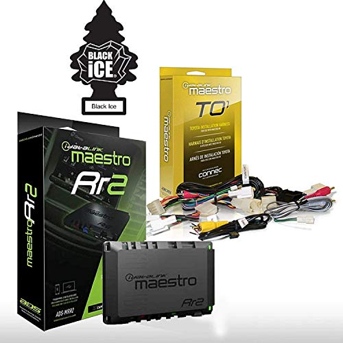 Maestro RR ADS-MRR2 Universal Radio Replacement & Steering Wheel Interface + iDatalink HRN-RR-TO1 Integration Adapter fits 2006-up Toyota-Made Vehicles + Freshener Bundle