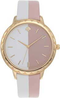 Kate Spade New York Women's Quartz Wrist Watch analog Display and Leather Strap, KSW1531
