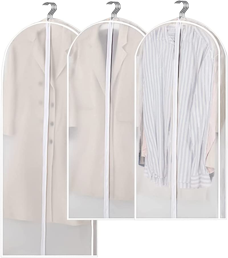 """4""""Gusset Hanging Garment Bag Challenge the lowest Popularity price of Japan ☆ Cover Dust-Proof Clothes"""