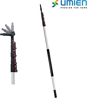 6-24 Foot Telescopic Extension Pole - Multi Functional Pole, Paint Roller, Light Bulb Changer, Duster Pole, Antenna Pole, Hanging Lights, Window and Gutter Cleaning - Includes Free Feather Duster