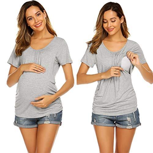Unibelle dames omstandennachthemd Maternity jurk Stijl-nachthemd nachthemd voor zwangerschap en borstvoeding, S-XXL